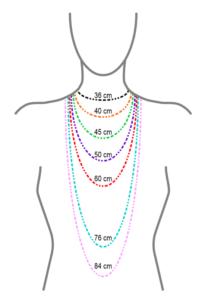 Les dimensions des colliers.