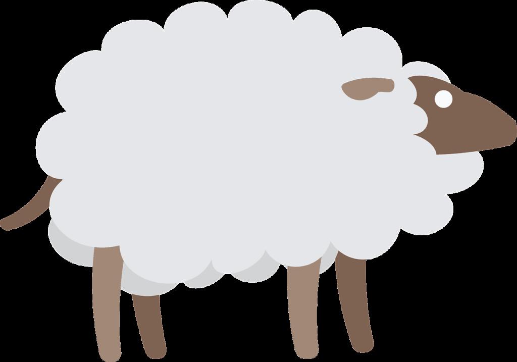 Un mouton avec son manteau.