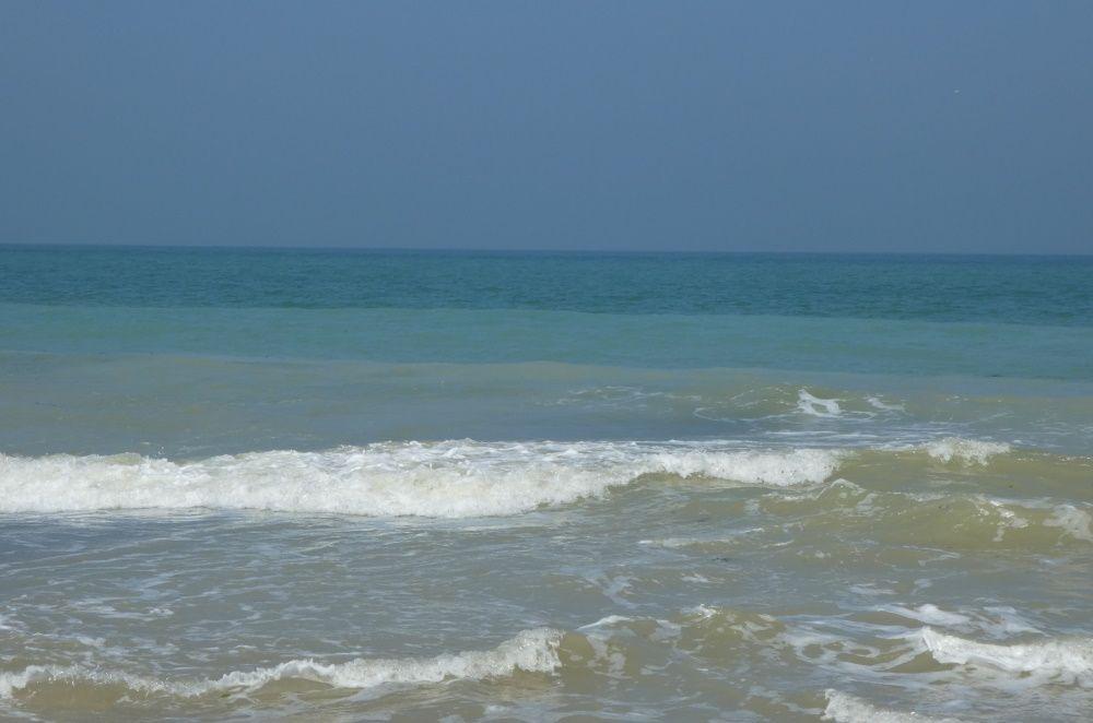 La mer à St Aubin en avril.