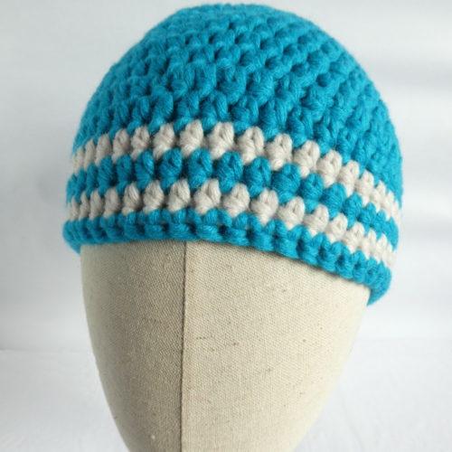 Le bonnet bleu en laine Dieppe.