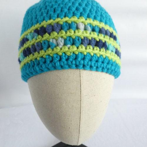 Le bonnet en laine bleu turquoise Trouville.