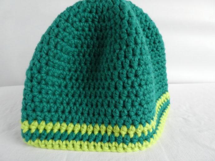 Les deux rayures du bonnet vert Gaydon.