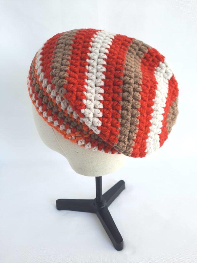4 couleurs vitaminées pour le bonnet en laine rouge Morlaix.