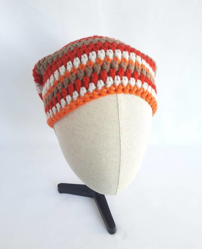 Le bonnet en laine rouge Morlaix.