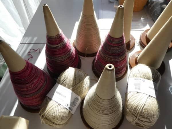 Les cônes de laine.